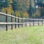 medinė tvora iš medinių kuolų